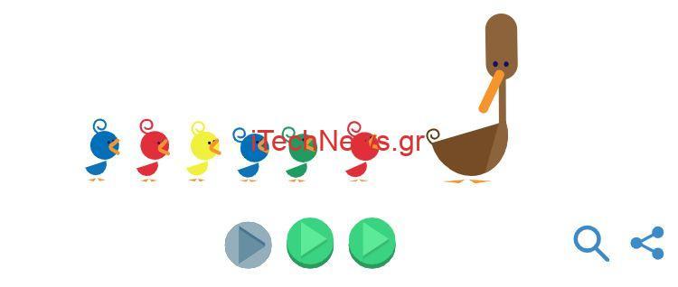 Γιορτή της μητέρας - google doodle