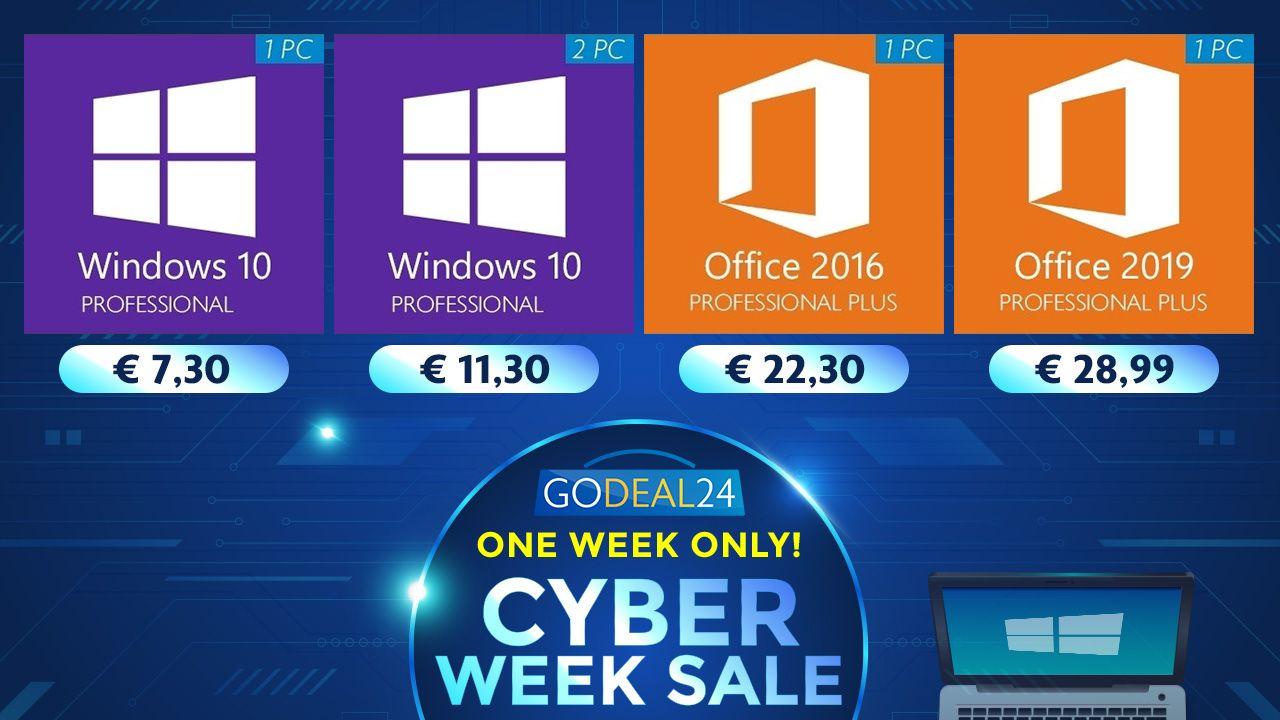 Godeal24.com windows 10 offers cyber week