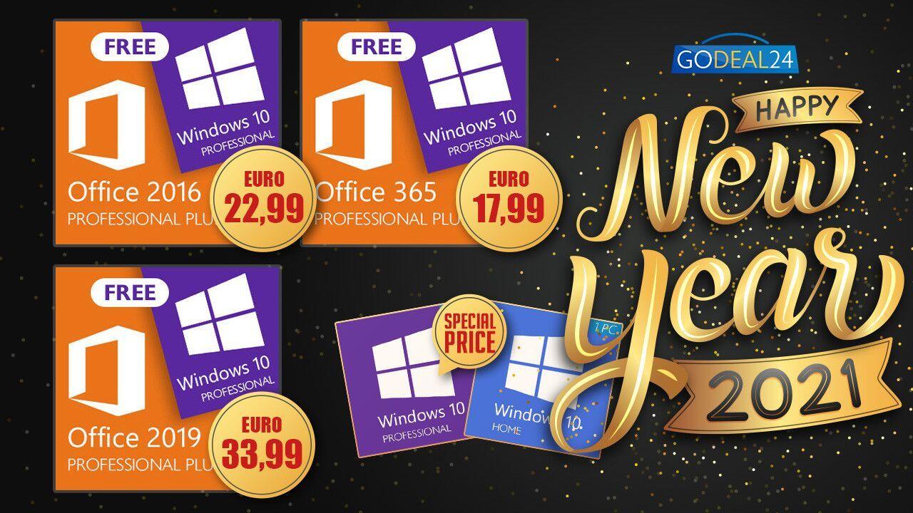 Best New Year Sales: αυθεντικά Windows 10 keys/Office με 1+1 δώρο!!