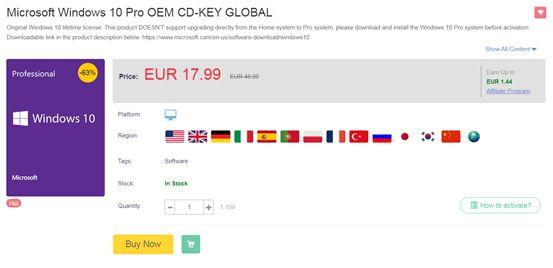 Πωλήσεις για την Ημέρα του Αγίου Βαλεντίνου - Windows 10 PRO OEM κωδικός για ΠΑΝΤΑ με μόνο 13 € στο Supercdk.com!